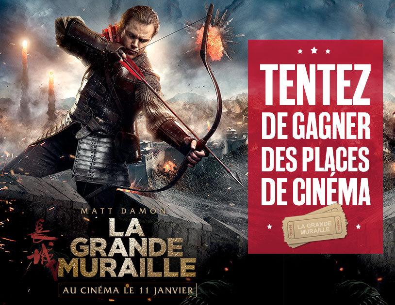 """Code promo BFMTV : 20 places de cinéma pour le film """"La Grande Muraille"""" à gagner"""