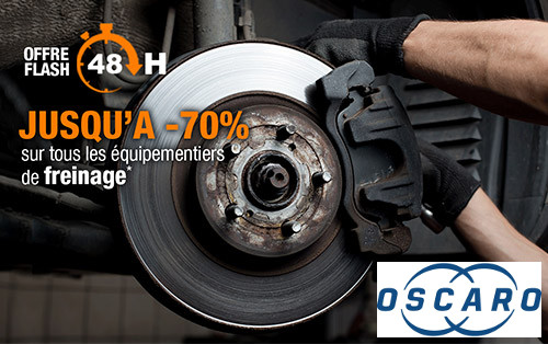 Code promo Oscaro : 70% de rabais sur tous les équipements de freinage
