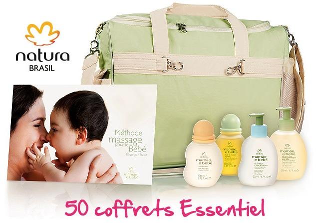 Code promo Magicmaman : 50 coffrets Essentiel Mamãe e Bebê de Natura Brasil à gagner