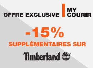 Code promo Courir : [Adhérents My Courir] - 15% en plus sur les chaussures Timberland soldées