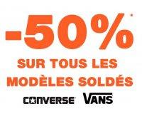 Courir: 50% de réduction sur toutes les chaussures Converse et Vans soldées