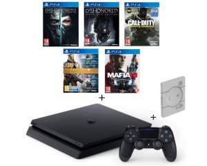 Cdiscount: PS4 Slim 500Go + 5 jeux (CoD IW, Dishonored 1&2, Mafia III, Destiny) + Steelbook
