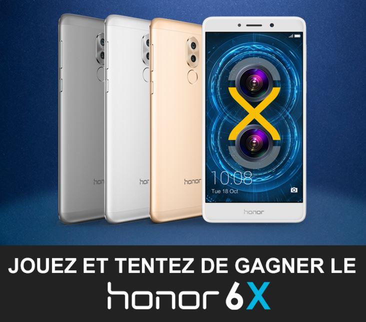 Code promo 01net : 1 Honor 6X et des perches à selfies à gagner