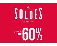 Camaïeu: Soldes : jusqu'à -60% sur une sélection d'articles
