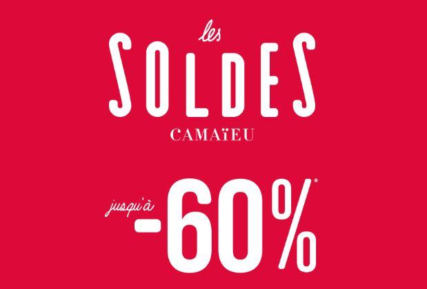 Code promo Camaïeu : Soldes : jusqu'à -60% sur une sélection d'articles