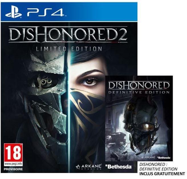 Code promo Cdiscount : Jeu Dishonored 2 Edition limitée sur PS4 à 25,49€