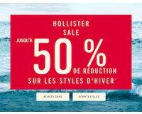 Hollister: Jusqu'à -50% sur une sélection d'articles + livraison gratuite dès 50€ d'achats