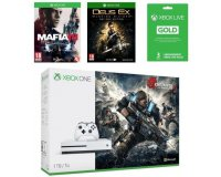 Cdiscount: Pack Xbox One S 1To Gears Of War 4 + Mafia III + Deus Ex + Live 3 mois à 329,99€