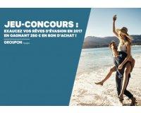 Groupon: 250 € en bon d'achat à dépenser sur Groupon Voyages à gagner