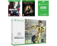 Cdiscount: Pack Xbox One S 1 To FIFA 17 + Mafia III + Deus Ex + Live 3 mois à 329,99€