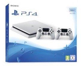 Amazon: [Précommande] PS4 Slim Blanche 500 Go + 2 manettes à 307,98€