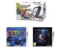 Fnac: Console Nintendo 2DS + 3 jeux (Mario Kart 7 + Tétris + Resident Evil) à 99,89€