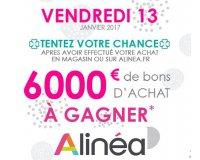 Alinéa: 6000€ en bons d'achat à gagner en passant commande sur le site ou en magasin