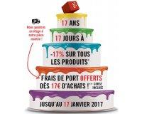 Le Géant des Beaux-Arts: - 17% sur tous les produits + frais de port offerts dès 17€ d'achats