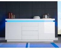 Cdiscount: Buffet 175cm blanc laqué avec led bleue à 299,99€