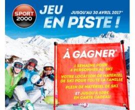 Sport2000: 1 semaine de Ski pour 4 personnes à gagner (logement + équipement)