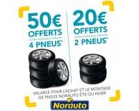 Norauto: Jusqu'à 50€ offerts en bons d'achat pour l'achat de deux ou quatre pneus Norauto