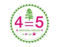 Séquoia Pressing: 4 vêtements nettoyés = le 5ème le moins cher offert