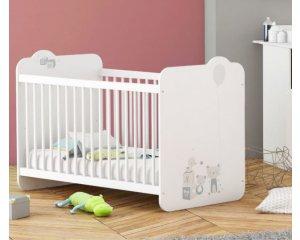 lit b b 60x120cm joujou 129 auchan. Black Bedroom Furniture Sets. Home Design Ideas