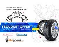 Allopneus: Des pneus Michelin achetés = 1 bon d'achat pour offrir des fleurs chez Aquarelle