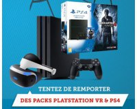 GAME ONE: 1 pack PS4+ PS VR, 1 pack PS4 + le jeu uncharted 4 et d'autres lots