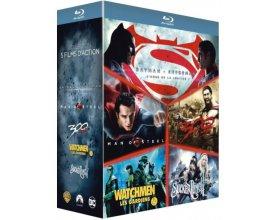 Amazon: Coffret Blu-ray Batman v Superman, Man of Steel, 300, Watchmen et Sucker Punch