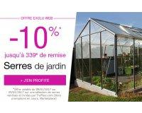 Truffaut: -10% sur les serres de jardin + livraison offerte