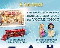Disney Store: 1 shopping privé dans l'un des 5 magasins Disney Store à gagner