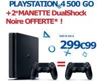 Boulanger: Une 2e manette PS4 DualShock Noire offerte pour l'achat d'une PS4 Slim 500 Go