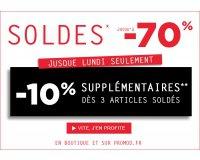 Promod: Soldes jusqu'à - 70% et - 10% supplémentaires dès 3 articles soldés achetés