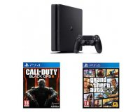 Fnac: Console Sony PS4 Slim 500 Go + Call of Duty Black Ops 3 + GTA 5 à 299,90€