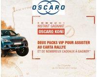 Oscaro: Plus de 1300 lots à gagner dont 2 packs VIP pour assister au Carta Rallye