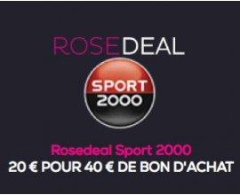 Vente Privée: Payez 20€ le bon d'achat Sport 2000 d'une valeur de 40€