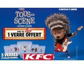 """KFC: Une Tasty Box achetée = un verre """"Tous En Scène"""" offert"""