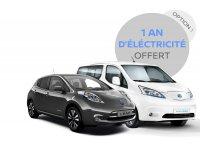 Nissan: 1 Voiture NISSAN 100% électrique achetée = 1 An d'électricité maison Offert