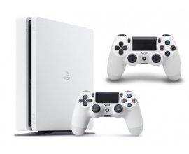 Amazon: Console PS4 500 Go Châssis D - Blanc Slim + 2e manette DualShock à 307,98€