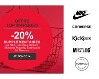 Sarenza: -20% supplémentaires sur Nike, Converse, Kickers et Sarenza