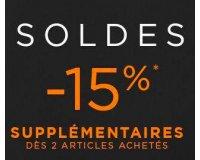 Jules: 15% de réduction en plus sur les soldes dès 2 articles achetés