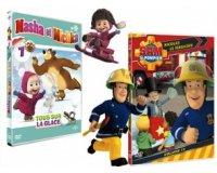 Femme Actuelle: Lot de 2 DVD dessins animés Sam le Pompier + Masha & Michka à gagner