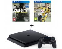 Cdiscount: Pack PS4 Slim Noire 500 Go + 2 Jeux : CoD Infinite Warfare + FIFA 17 à 329,99€