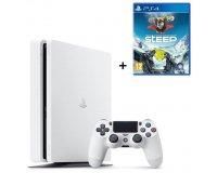 Cdiscount: PS4 Slim Glacier White 500 Go + le jeu Steep à 299,99€