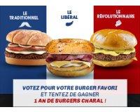 Charal: 1 an de burgers Charal en bons d'achat à gagner