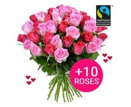 Aquarelle: 10 roses offertes en plus pour la Saint-Valentin