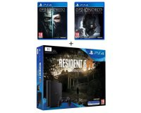 Cdiscount: PS4 Slim 1 To + 3 jeux (Resident Evil 7 + Dishonored 1 et 2) à 349,87€