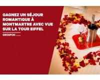 Groupon: 1 séjour romantique à Montmartre avec vue sur la Tour Eiffel à gagner