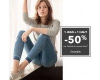 Etam: -50% sur l'article le moins cher pour l'achat de 1 jean + 1 haut