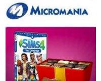 Micromania:  1 an de chocolats et des packs d'extension Sims 4 Vie citadine à gagner