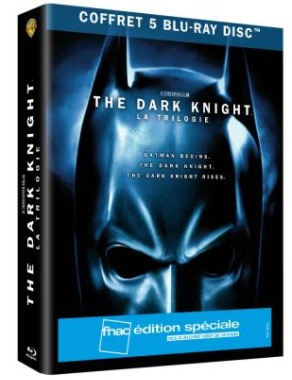 Code promo Amazon : Coffret Blu-ray édition spéciale Trilogie The Dark Knight à 12€