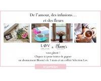 Lov Organic: 3 x 1 abonnement de 3 mois à la box de fleur Bloom's & 1 coffret de thé à gagner