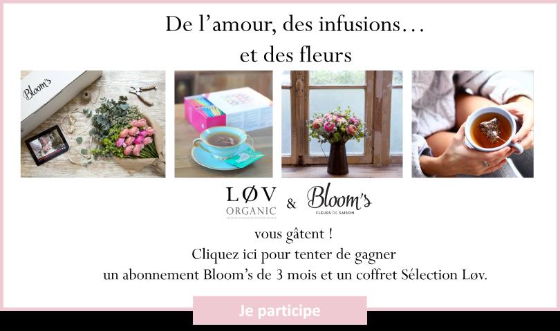 3 x 1 abonnement de 3 mois la box de fleur bloom 39 s 1 coffret de th gagner lov organic. Black Bedroom Furniture Sets. Home Design Ideas
